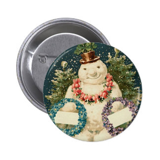 La guirnalda adornó el muñeco de nieve pins