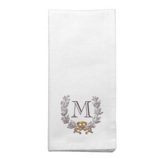 La guirnalda del vintage personaliza la servilleta