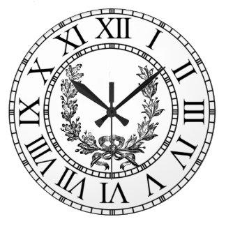 La guirnalda elegante del francés del vintage reloj redondo grande