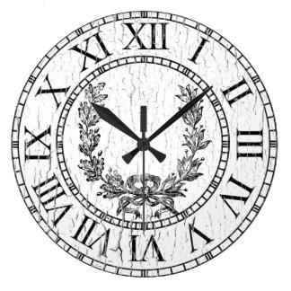 La guirnalda resistida elegante del francés reloj redondo grande