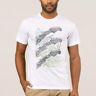 La guitarra abstracta dirige la camiseta para