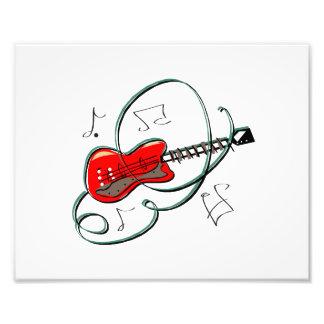 la guitarra abstracta observa la música red.png arte fotográfico