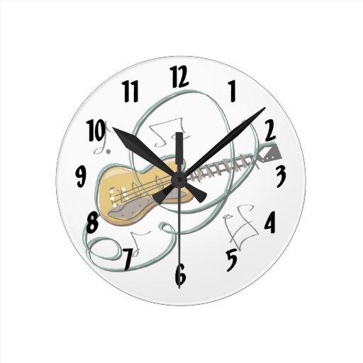 la guitarra abstracta observa music.png reloj redondo mediano