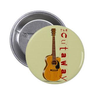 La guitarra acústica cortada pin