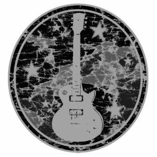 La guitarra apenada protagoniza la oscuridad BW de Adorno Fotoescultura