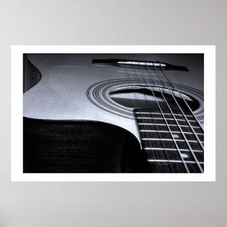 La guitarra ata BW Póster