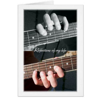 La guitarra ata el extracto tarjeta de felicitación