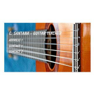 La guitarra ata el primer tarjetas de visita