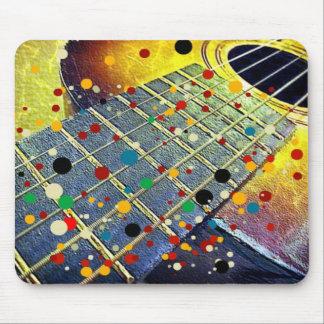 La guitarra ata el vintage de la música colorido alfombrillas de ratón