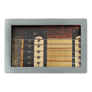 La guitarra ata la hebilla del cinturón hebilla de cinturón rectangular