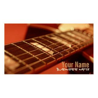 La guitarra ata tarjetas de visita