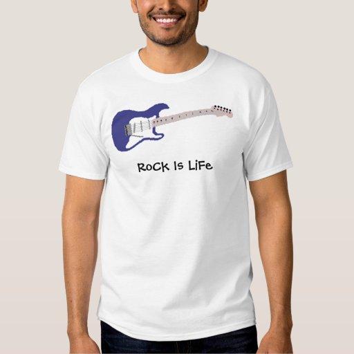 la guitarra azul, roca es vida playeras