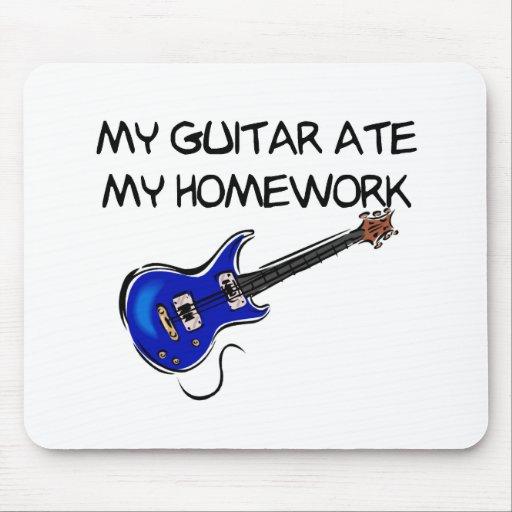 La guitarra comió mi cojín de ratón de la preparac alfombrillas de ratones