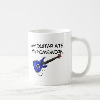 La guitarra comió mi taza de la preparación