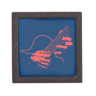 La guitarra da II - rojo Caja De Recuerdo De Calidad
