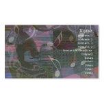 La guitarra da la tarjeta silenciada abstracta del tarjeta de negocio