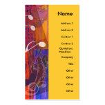 La guitarra da la tarjeta vertical viva del perfil tarjetas de visita