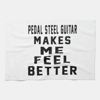 La guitarra de acero del pedal hace que siente mej toallas de cocina