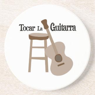 La Guitarra de Tocar Posavasos Cerveza