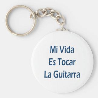 La Guitarra del MI Vida Es Tocar Llavero Personalizado