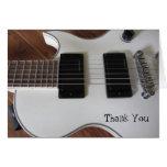 La guitarra eléctrica le agradece tarjetón