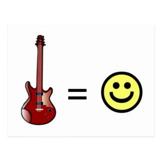 La guitarra iguala felicidad postal