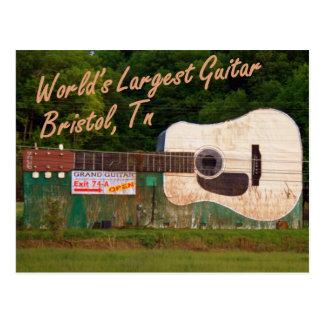 La guitarra más grande del mundo - Bristol, TN Tarjetas Postales