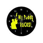 la guitarra oscila la roca eléctrica del papá del  relojes de pared