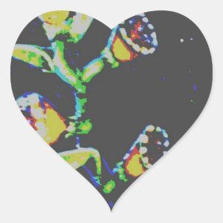 la guitarra pintada interminable calcomanías corazones personalizadas
