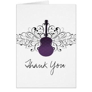 La guitarra púrpura de los remolinos le agradece c tarjetas