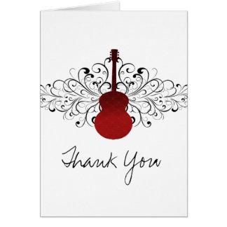 La guitarra roja de los remolinos le agradece card tarjetón