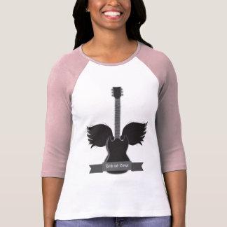 La guitarra se va volando el raglán de las señoras t shirt
