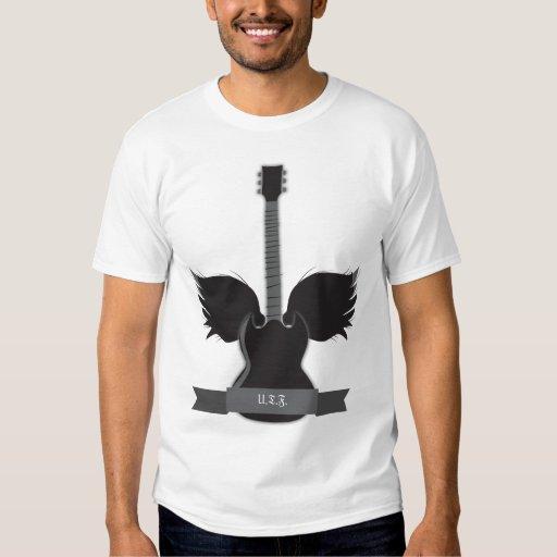 La guitarra se va volando la camiseta playera