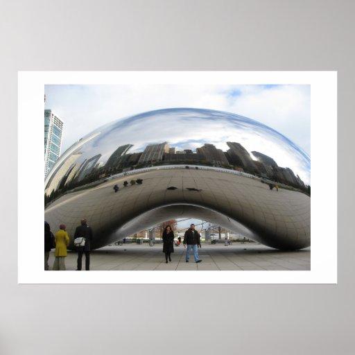 La haba en el parque Chicago del milenio Poster