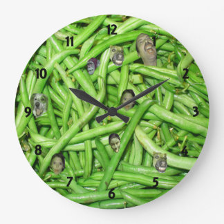 La haba verde dirige el reloj