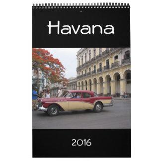 La Habana Cuba 2016 Calendario De Pared