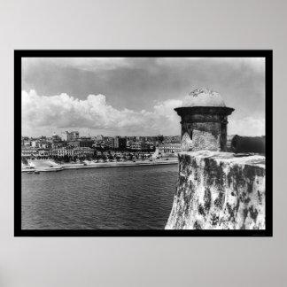 La Habana, Cuba Birdseye 1902 Poster