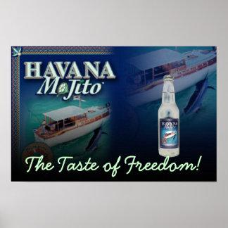 La Habana Mojito el gusto de la impresión de la lo Poster