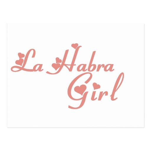 La Habra Girl tee shirts Postcard