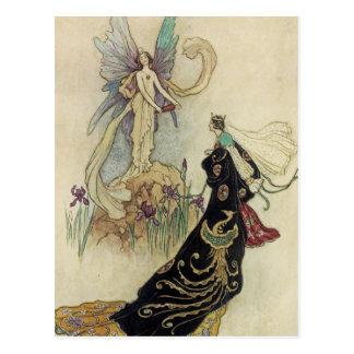 La hada allí acogió con satisfacción su majestad tarjetas postales