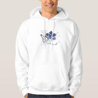 La hada besa la camiseta del copo de nieve sudadera encapuchada