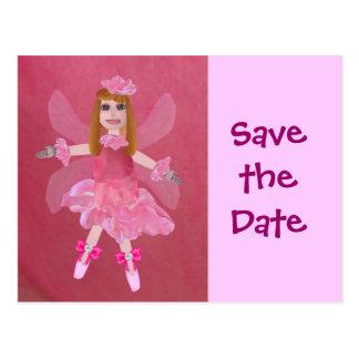 La hada color de rosa, ahorra la fecha postal