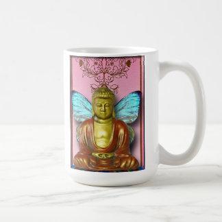 La hada de Buddah… alteró el arte, taza de café