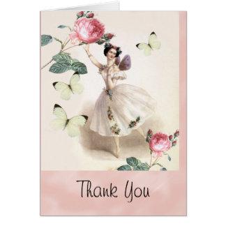 La hada de la bailarina le agradece tarjeta pequeña