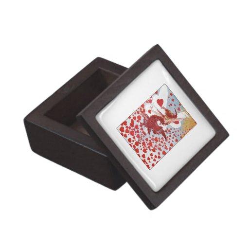 La hada de la tarjeta del día de San Valentín retr Caja De Regalo De Calidad
