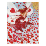 La hada de la tarjeta del día de San Valentín retr Tarjeta Postal