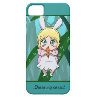La hada de Manga comparte mi zanahoria iPhone 5 Cárcasa