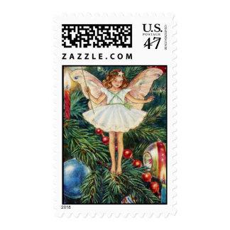 La hada del árbol de navidad sello postal
