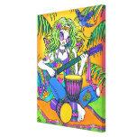 """La hada del Hippie del arco iris de la """"melodía"""" e Impresión En Lona Estirada"""