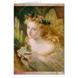 La hada hermosa soña cumpleaños del vintage tarjeta de felicitación